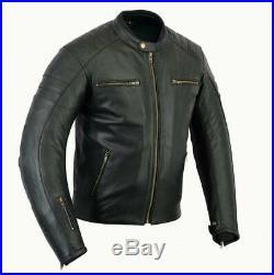 Veste En Cuir Moto, Classic, Biker Veste, Blouson Moto, Retro, Rocker, Noir
