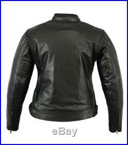 Veste En Cuir Moto Femme, Noir, Cafe Racer, Retro, Rocker, Blouson Cuir, Corse