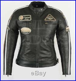 Veste En Cuir Moto Femme, Vintage, Cafe Racer, Retro, Rocker, Blouson Cuir