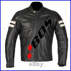 Veste En Cuir Moto Homme, Vintage Blouson, Cafe Racer Blouson En Cuir, Noir M-4XL