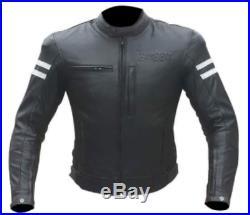 Veste En Cuir Moto Homme Vintage Cafe Racer Blouson Taille M L XL XXL 3XL 4XL