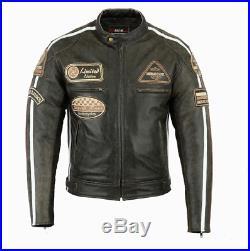 Veste En Cuir Moto Homme, Vintage, Cafe Racer, Leather Jacket, Blouson Cuir