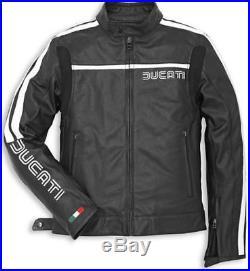 Veste En Cuir Perforé 80's'14 Original Ducati 9810223 Blouson Cuir Taille 52