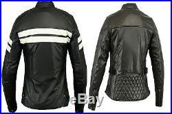 Veste En Cuir Pour Femme, Blouson Pour Moto, Noir Veste, Biker, Chopper vintage