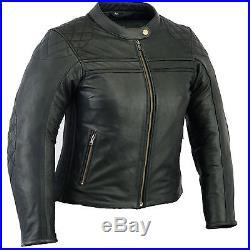 Veste En Cuir Pour Femme, Blouson Pour Moto, Vintage Motard Blouson en Cuir