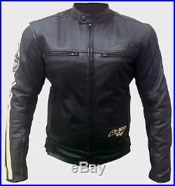 Veste En Cuir Pour Femme Blouson Pour Moto Vintage Noir Biker Chopper
