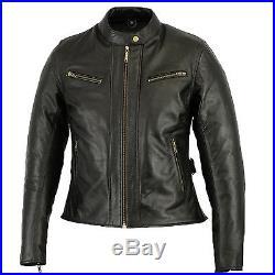 Veste En Cuir Pour Femme Blouson Pour Moto Vintage Veste de cuir. Motard Veste