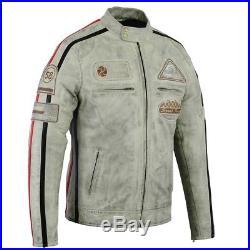Veste En Cuir Pour Homes Blouson Pour Moto Vintage Cafe race Biker Chopper Veste