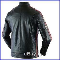 Veste En Cuir Pour Moto Chopper Custom Blouson Cuir Veste Moto Homme M a 4XL