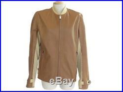 Veste Hermes 46 S Blouson Homme En Cuir Marron & Resille Leather Jacket 5000