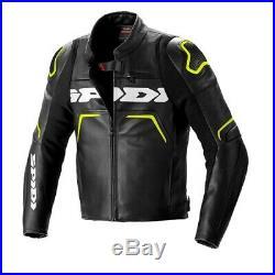 Veste Jacket Blouson Chaqueta en Cuir Evorider 2 Spidi Noir Jaune Homme Moto