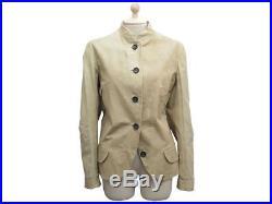 Veste Jil Sander Cuir Kangourou 40 L En Cuir Beige Blouson Leather Jacket 1390