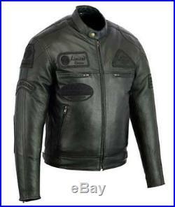 Veste Makson En Cuir Moto Homme, Vintage, Cafe Racer, Leather Jacket, Veste Noir