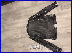 Veste Manteau Blouson Perfecto Cuir Iro/ Leather jacket Iro 36