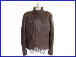 Veste Matchless 50 XL Blouson En Cuir Marron De Moto Motard Leather Jacket 1500
