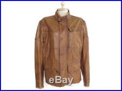 Veste Matchless Kesington 50 XL Blouson En Cuir Camel Moto Motard Jacket 1500