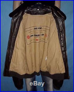 Veste blouson LEVIS en cuir col en vrai mouton taille XL/XXL TRES BON ETAT
