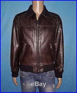 Veste blouson OAKWOOD en cuir de buffle souple marron taille M