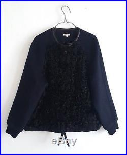 Veste blouson PAROSH T. S (grand 36/38/40) bimatière laine fourrure d'agneau TBE
