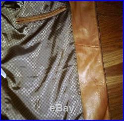 Veste blouson SERGE BLANCO en cuir camel taille M
