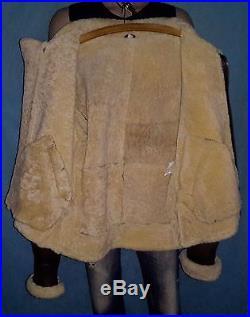 Veste blouson bombardier en cuir mouton taille L NEUF