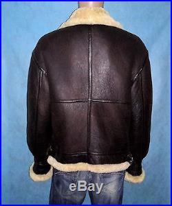 Veste blouson bombardier en cuir mouton taille M TBE