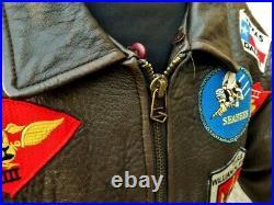 Veste blouson cuir AVIREX G1 Top Gun marron taille XL aviateur