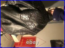 Veste blouson cuir AVIREX noir agé taille xL aviateur (M U. S. A.)