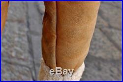 Veste blouson cuir beige mouton shearling original flight army b3 aviateur L