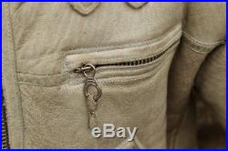 Veste blouson cuir de mouton shearling original flight army b3 aviateur M/L
