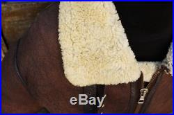 Veste blouson cuir de mouton shearling original flight army b3 aviateur taille L