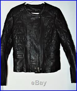 Veste blouson cuir luxe COMPTOIR COTONNIERS matelassé été 2017