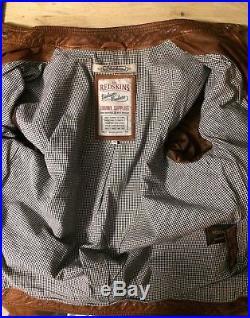 Veste/blouson cuir marron REDSKINS style vintage 70's
