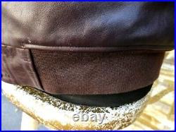 Veste blouson cuir marron Schott Limited Edition Partie en shearling amovible M