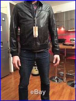 Veste/blouson cuir noir homme Redskins Neuf avec étiquettes Taille L