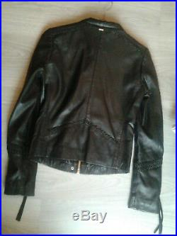 Veste / blouson en cuir IKKS noire 34 / 36