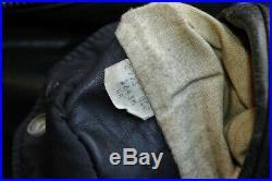 Veste blouson en cuir SCHOTT 184 SM vintage 70 taille 48 u. S. A. (XL EU)