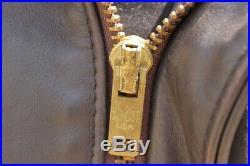 Veste blouson en cuir Schott 684 sm original aviateur taille 44 U. S. A. (L eu)