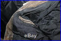 Veste blouson en cuir de moto aviateur vintage taille L pour homme