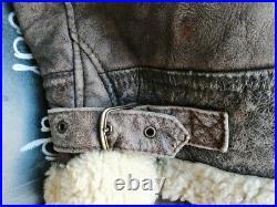 Veste blouson en cuir de mouton aviateur cockpit raf vintage B3 rocky taille XL
