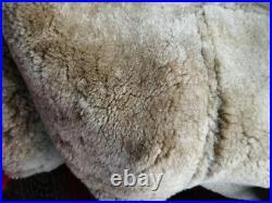 Veste blouson en cuir de mouton shearling vintage cockpit raf b3 rocky taille XL