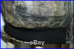 Veste blouson en cuir gris vieilli AVIREX original aviateur taille L