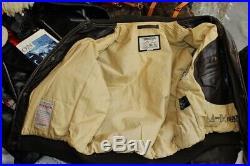 Veste blouson en cuir marron CHEVIGNON A2 original aviateur taille XL