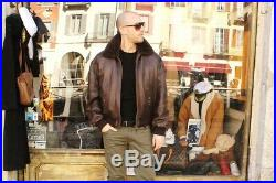 Veste blouson en cuir marron CHEVIGNON EXCELLENCE original aviateur taille XL