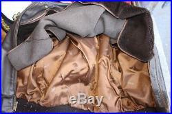 Veste blouson en cuir marron SCHOTT 684 Sm vintage taille XL/XXL (50 U. S. A.)