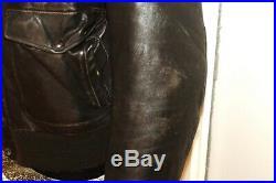 Veste blouson en cuir marron SCHOTT originale vintage 80 taille 40 (m/l)