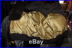 Veste blouson en cuir marron Schott 184 sm original vintage taille L/XL