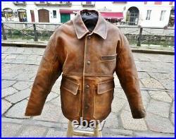 Veste blouson en cuir marron agé vintage original AVIREX B3 aviator taille L/XL