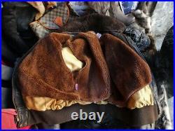 Veste blouson en cuir marron foncé SCHOTT 184sm vintage taille 54 eu (XL)