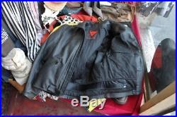 Veste blouson en cuir moto Dainese original vintage moto 70 tg M